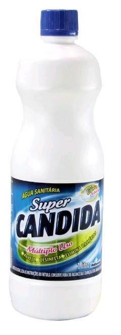 ÁGUA SANITÁRIA 1 LITRO - SUPER CANDIDA