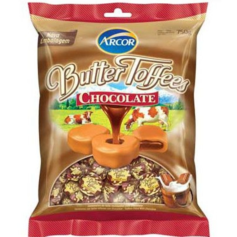BALA BUTTER TOFFEERS CHOCOLATE PCT 750G - ARCOR