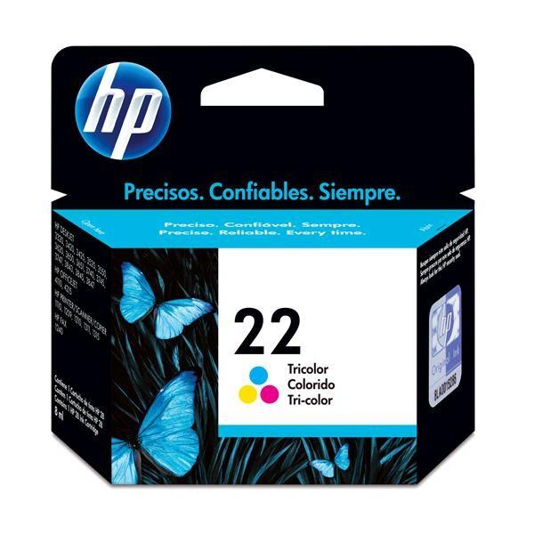 CARTUCHO DE TINTA 22 C9352AL COLORIDO 5ML - HP
