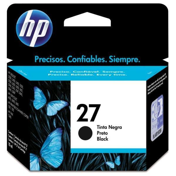 CARTUCHO DE TINTA 27 C8727AB PRETO 10ML - HP
