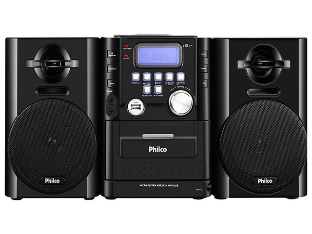 MICRO SYSTEM MP3 USB 12W RMS MSP211N USB - PHILCO