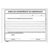 AVISO DE ADVERTÊNCIA AO EMPREGADO C/50FLS COD. 6639-9 - SÃO DOMINGOS